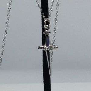 Jewelry - VINTAGE STERLING SILVER CROSS PENDANT W/ NECKLACE
